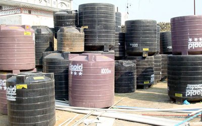 R.P.Sons Premium Shop of Sanitry ware, Paints, Steel-Cement Kichha Road, Sitarganj--Best Quality Of Water Tanks