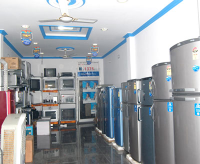 The Biggest showroom of Electronics Home Appliences in Sitarganj